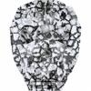 Swarovski Bead 5750 Skull 13mm Patina Black Crystal
